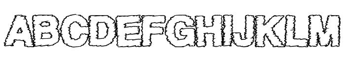 AfterWork Font UPPERCASE