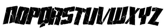 Aftershock Debris Condensed Italic Font UPPERCASE