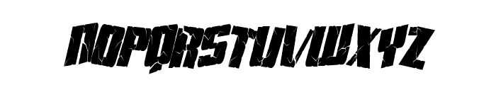 Aftershock Debris Condensed Italic Font LOWERCASE