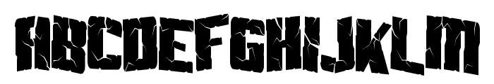 Aftershock Debris Condensed Font UPPERCASE