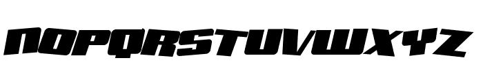 Aftershock Debris Solid Italic Font UPPERCASE