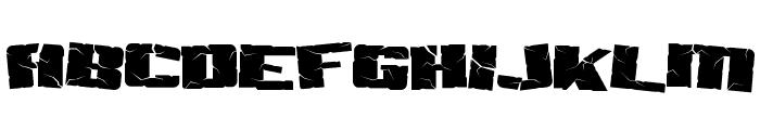 Aftershock Debris Font UPPERCASE