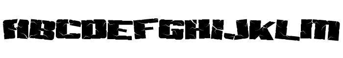 Aftershock Debris Font LOWERCASE