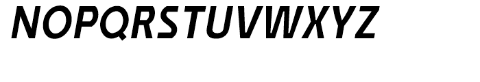 Affluent Demi Bold Italic Font UPPERCASE