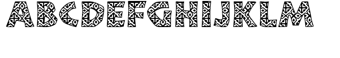 African Textile One Font UPPERCASE