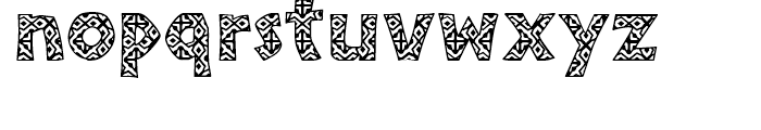 African Textile One Font LOWERCASE