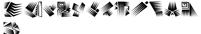 Afro Bats Regular Font UPPERCASE