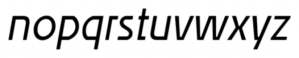Affluent Italic Font LOWERCASE