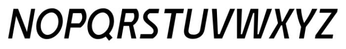 Affluent SemiBold Italic Font UPPERCASE