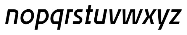 Affluent SemiBold Italic Font LOWERCASE