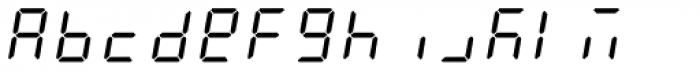 AF-LED7 Seg-2 Font LOWERCASE