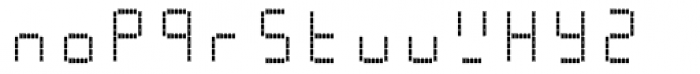 AF-LED7 Seg-dots1 Font LOWERCASE