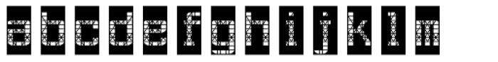AF Track One Font LOWERCASE