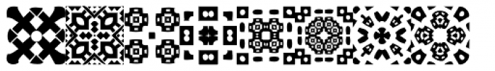 African Pattern 01 General Font UPPERCASE