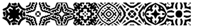 African Pattern 01 General Font LOWERCASE