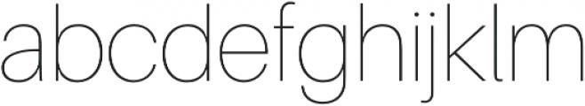Agape UltraLight otf (300) Font LOWERCASE