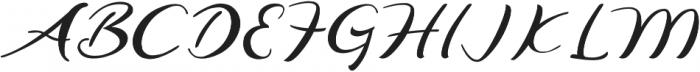 Agatha otf (400) Font UPPERCASE