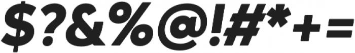 Ageo Heavy Italic otf (800) Font OTHER CHARS