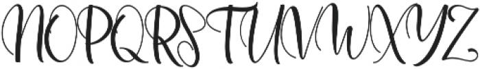 Agnesia Regular ttf (400) Font UPPERCASE