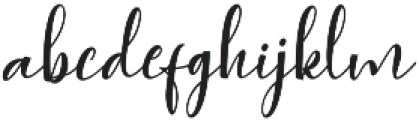 Agnesia Regular ttf (400) Font LOWERCASE