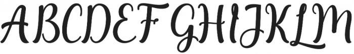 Agnetha Regular otf (400) Font UPPERCASE