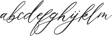 AgoniaLyubvi Regular ttf (400) Font LOWERCASE