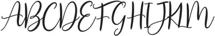 Agreable-Script otf (400) Font UPPERCASE