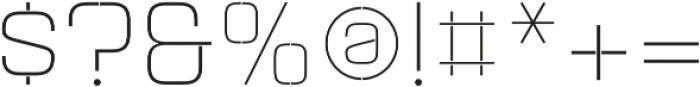 Aguda Stencil 1 Light Unicase Regular otf (300) Font OTHER CHARS