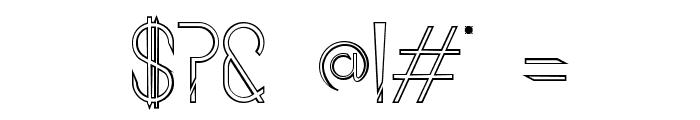 Aggressor Outline Font OTHER CHARS