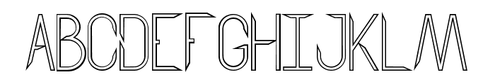 Aggressor Outline Font UPPERCASE