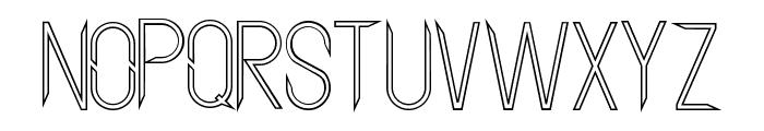 Aggressor Outline Font UPPERCASE