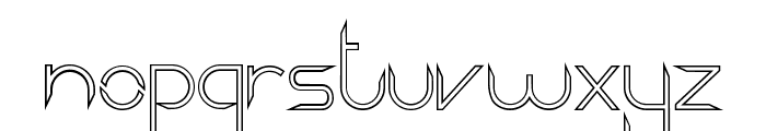 Aggressor Outline Font LOWERCASE