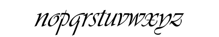 Agnez Lovely Italic Font LOWERCASE
