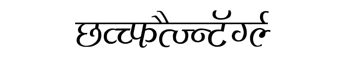 Agra Thin Font UPPERCASE