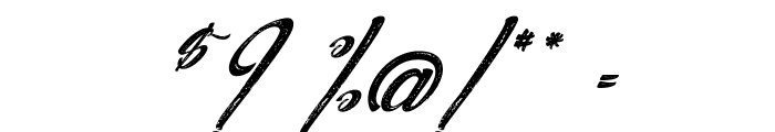 Agua deJamaica-Italic Font OTHER CHARS