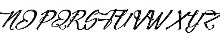 Agua deJamaica-Italic Font UPPERCASE