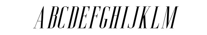 Aguero Serif Free Italic Font UPPERCASE