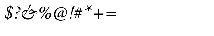 Agmena Italic Font OTHER CHARS
