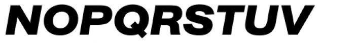 AG Book BQ Bold Extended Italic Font UPPERCASE