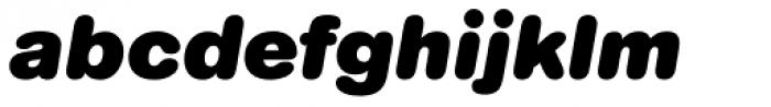 AG Book Rounded Pro Black Italic Font LOWERCASE