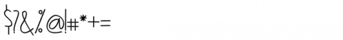 Agashi Signature Regular Font OTHER CHARS