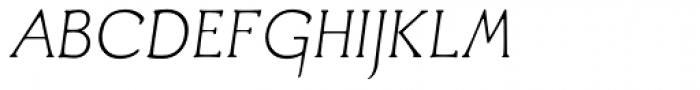 Aged Italic Font UPPERCASE