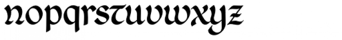 Agedage Beneventan Font LOWERCASE