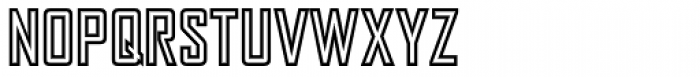 Agency Gothic Inline Font UPPERCASE