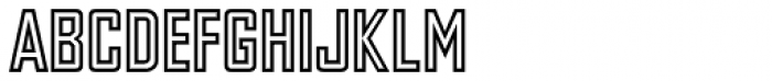 Agency Gothic Inline Font LOWERCASE