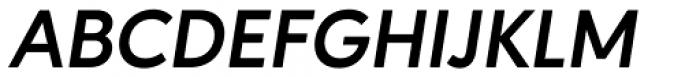 Ageo Bold Italic Font UPPERCASE