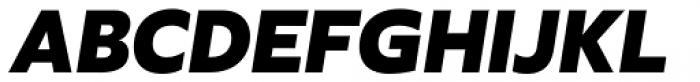 Agile Sans Extra Bold Italic Font UPPERCASE