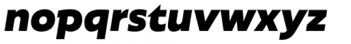 Agile Sans Extra Bold Italic Font LOWERCASE