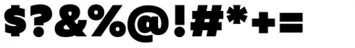 Agile Sans Heavy Font OTHER CHARS