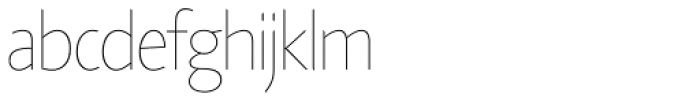 Agilita Std UltraThin Font LOWERCASE